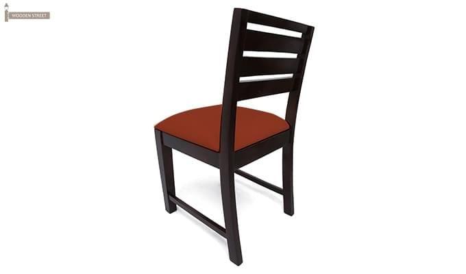 Advin 6 Seater Extendable Dining Set (Orange, Mahogany Finish)-4