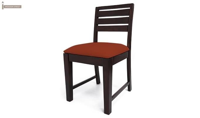 Advin 6 Seater Extendable Dining Set (Orange, Mahogany Finish)-8