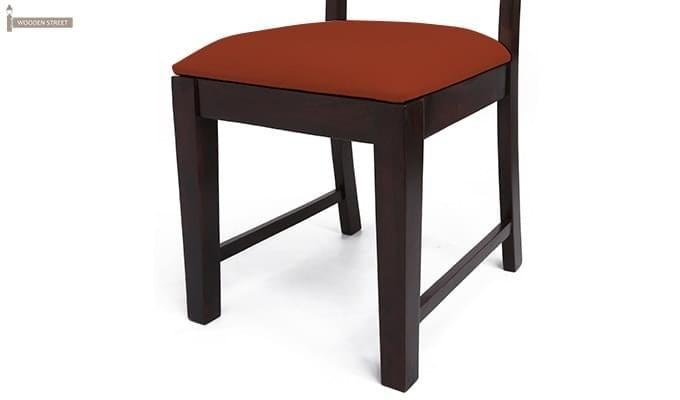 Advin 6 Seater Extendable Dining Set (Orange, Mahogany Finish)-9