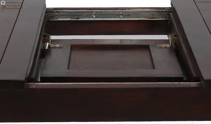 Advin 6 Seater Extendable Dining Set (Orange, Mahogany Finish)-10