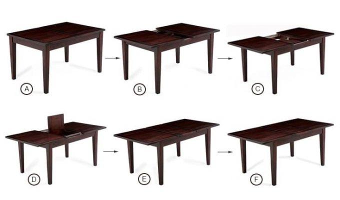 Advin 6 Seater Extendable Dining Set (Orange, Mahogany Finish)-6