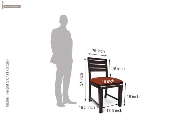 Advin 6 Seater Extendable Dining Set (Orange, Mahogany Finish)-13