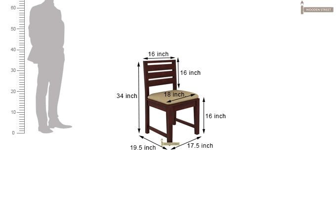 Advin 6 Seater Extendable Dining Set (Cream, Mahogany Finish)-12