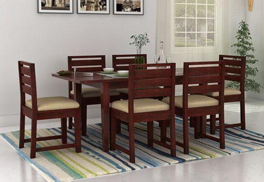 Sheesham Wood 6 seater folding dining table india
