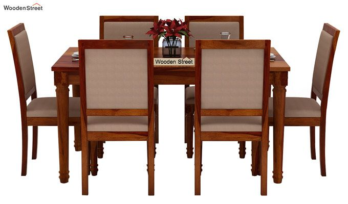 Henson 6 Seater Dining Set (Honey Finish)-2