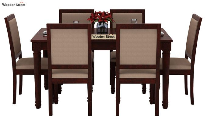 Henson 6 Seater Dining Set (Mahogany Finish)-2
