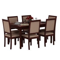 Henson 6 Seater Dining Set (Mahogany Finish)