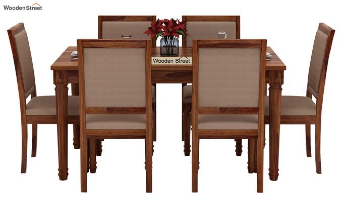 Henson 6 Seater Dining Set (Teak Finish)-2
