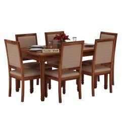 Henson 6 Seater Dining Set (Teak Finish)