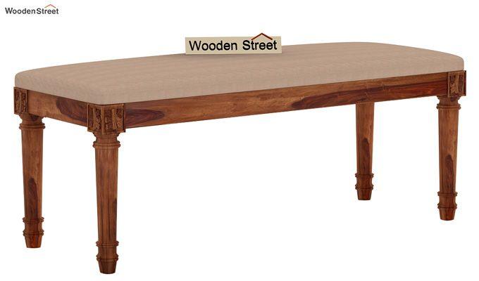 Henson 6 Seater Dining Set With Bench (Teak Finish)-7