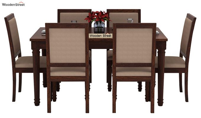 Henson 6 Seater Dining Set (Walnut Finish)-3
