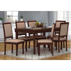 Henson 6 Seater Dining Set (Walnut Finish)