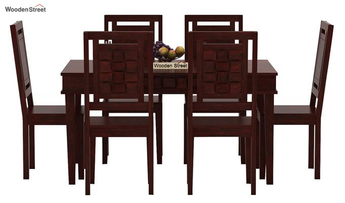 Howler 6 Seater Dining Table Set (Mahogany Finish)-2