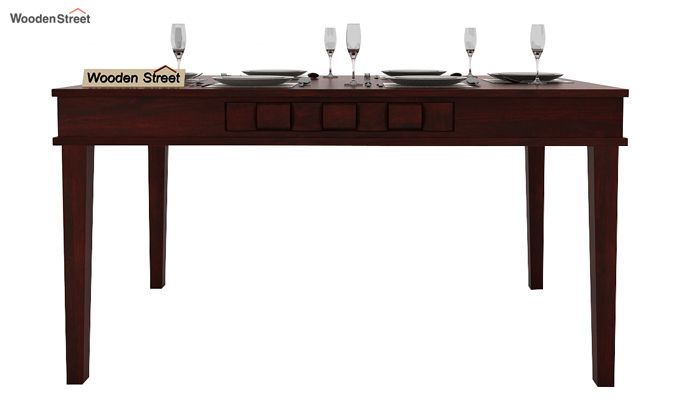 Howler 6 Seater Dining Table Set (Mahogany Finish)-3