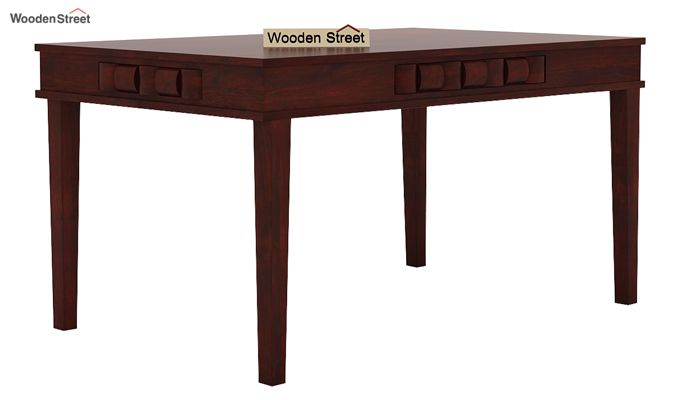 Howler 6 Seater Dining Table Set (Mahogany Finish)-5