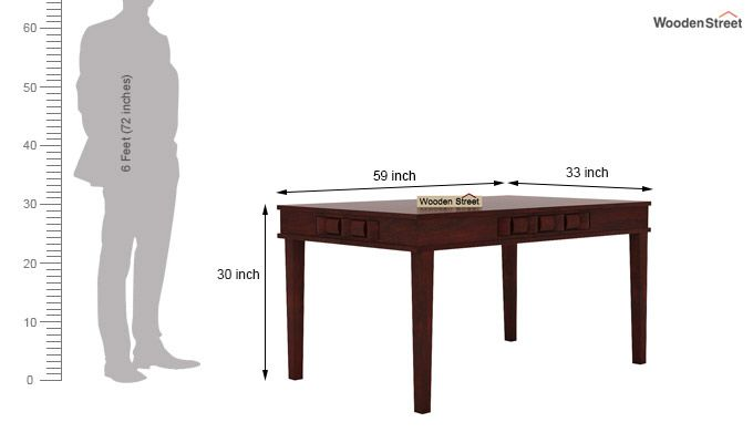 Howler 6 Seater Dining Table Set (Mahogany Finish)-9