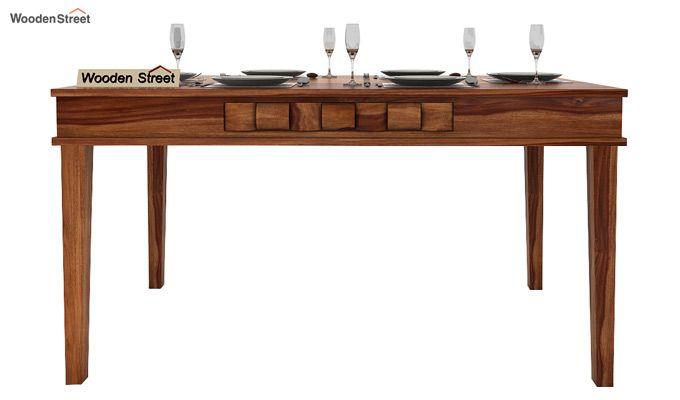 Howler 6 Seater Dining Table Set (Teak Finish)-3