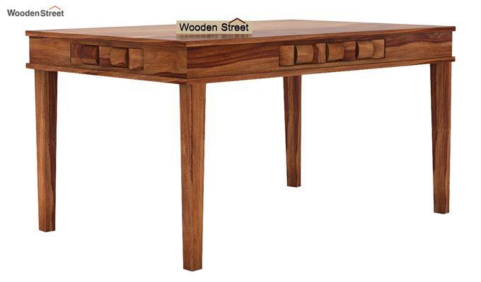 Howler 6 Seater Dining Table Set (Teak Finish)-5