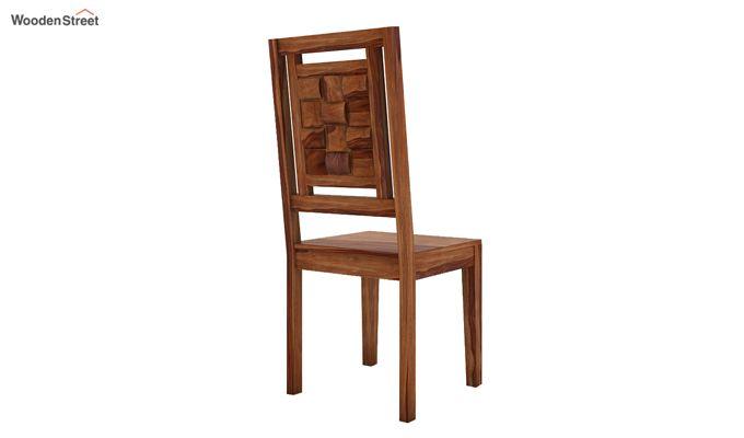 Howler 6 Seater Dining Table Set (Teak Finish)-8