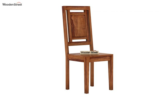 Howler 6 Seater Dining Table Set (Teak Finish)-6