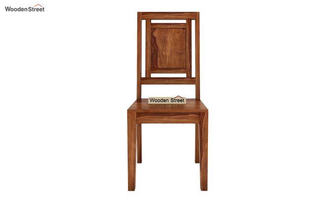 Howler 6 Seater Dining Table Set (Teak Finish)-7