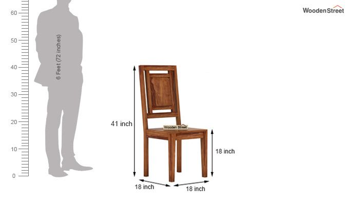 Howler 6 Seater Dining Table Set (Teak Finish)-10