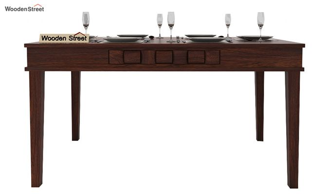 Howler 6 Seater Dining Table Set (Walnut Finish)-3