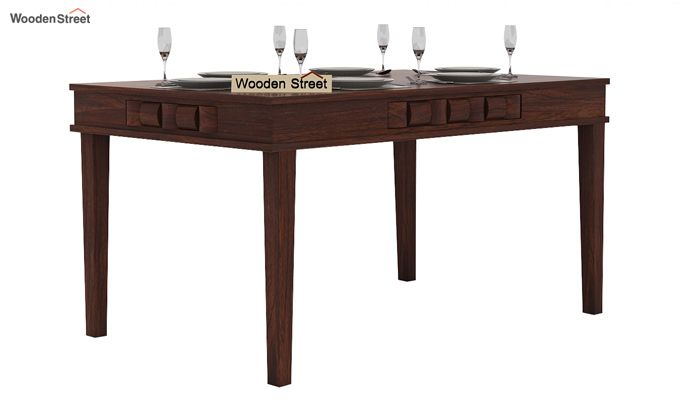 Howler 6 Seater Dining Table Set (Walnut Finish)-4