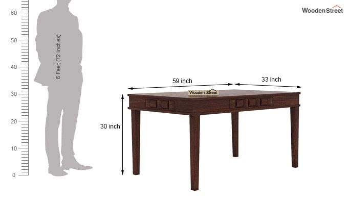 Howler 6 Seater Dining Table Set (Walnut Finish)-9