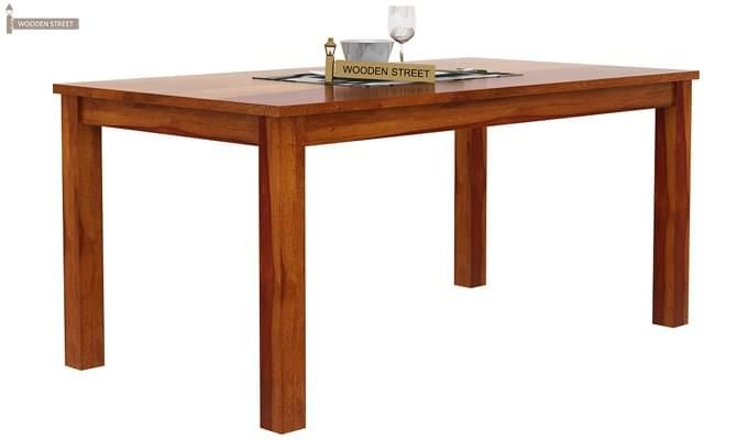 Janet 6 Seater Dining Table Set (Honey Finish)-8