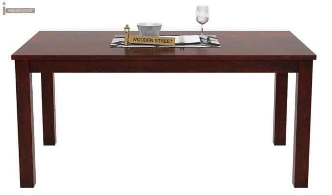 Janet 6 Seater Dining Table Set (Mahogany Finish)-4