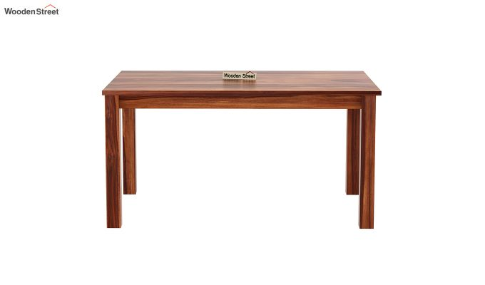 Janet Cushioned 6 Seater Dining Table Set (Honey Finish)-5