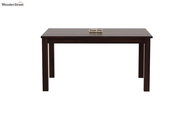 Janet Cushioned 6 Seater Dining Table Set (Walnut Finish)-5
