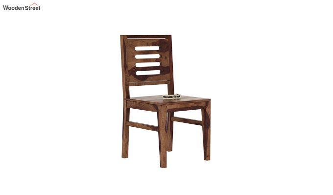 Janet 6 Seater Dining Table Set (Teak Finish)-6