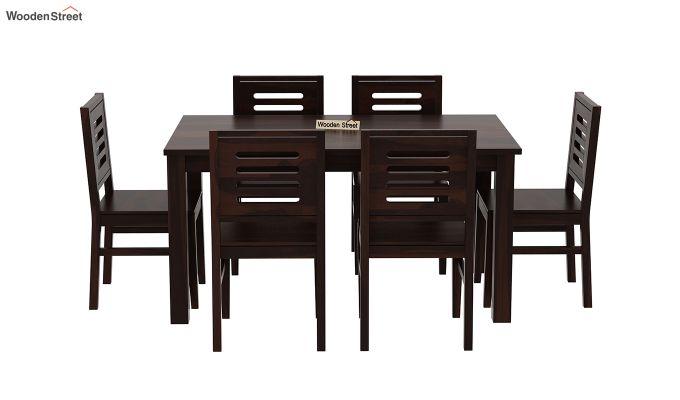 Janet 6 Seater Dining Table Set (Walnut Finish)-3
