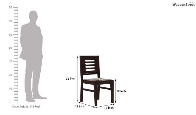 Janet 6 Seater Dining Table Set (Walnut Finish)-8