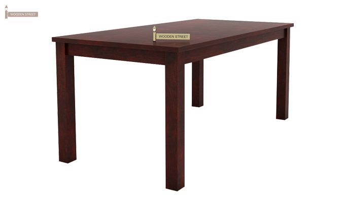 Janet 6 Seater Dining Table Set With Bench (Mahogany Finish)-4