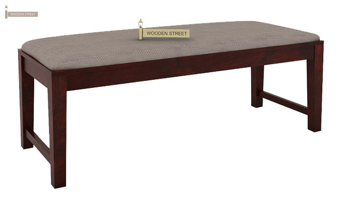 Janet 6 Seater Dining Table Set With Bench (Mahogany Finish)-8