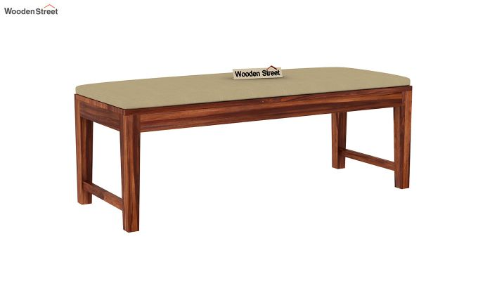 Janet 6 Seater Dining Table Set With Bench (Honey Finish)-8
