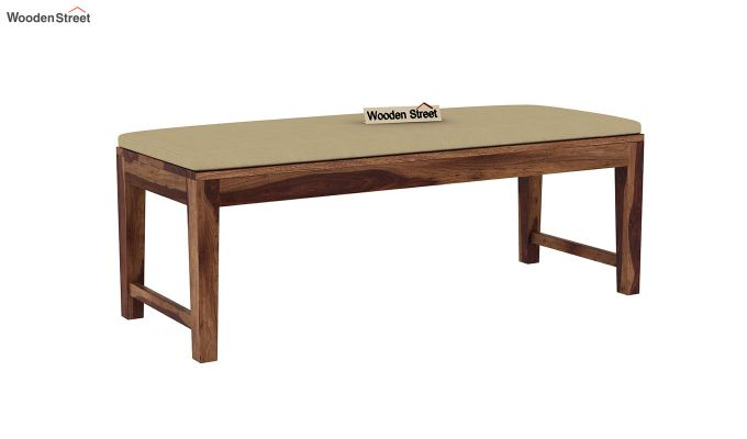 Janet 6 Seater Dining Table Set With Bench (Teak Finish)-8