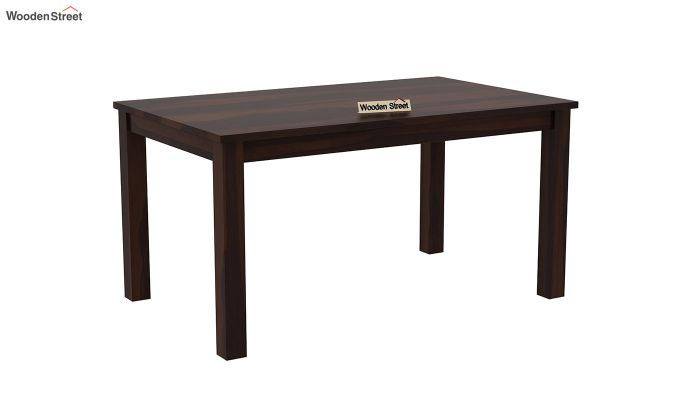 Janet 6 Seater Dining Table Set With Bench (Walnut Finish)-4