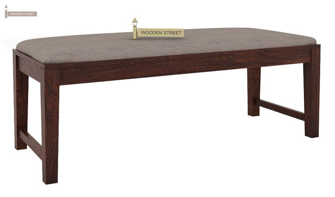 Janet 6 Seater Dining Table Set With Bench (Walnut Finish)-8