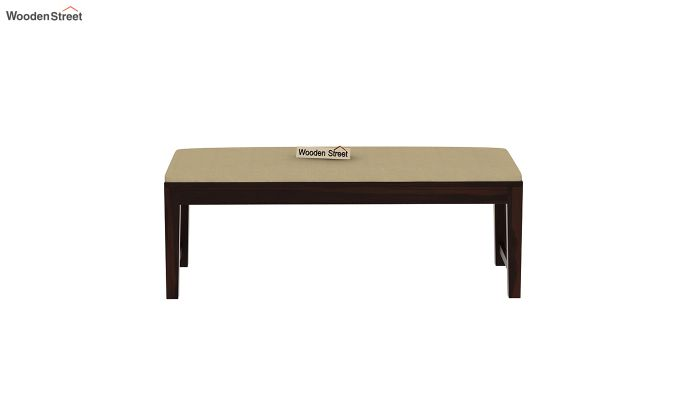 Janet 6 Seater Dining Set with Bench with Glass Top (Walnut Finish)-8