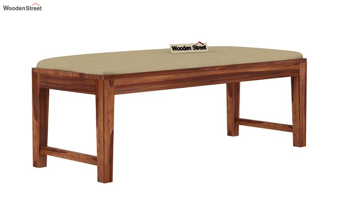 Janet 6 Seater Dining Set with Bench with Glass Top (Teak Finish)-6