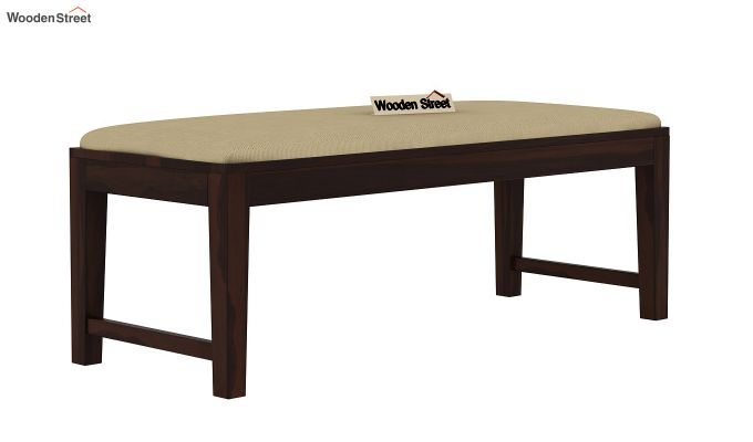 Janet 6 Seater Dining Set with Bench with Glass Top (Walnut Finish)-6