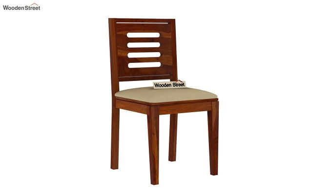 Janet 6 Seater Dining Set with Stone Set (Honey Finish)-6