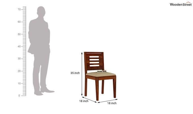 Janet 6 Seater Dining Set (Honey Finish)-9
