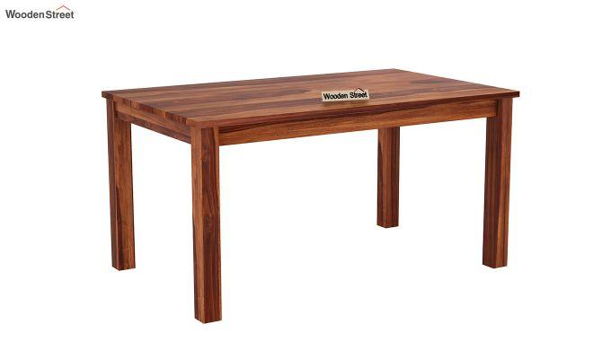 Janet Cushioned 6 Seater Dining Table Set (Honey Finish)-4