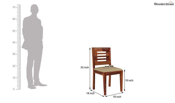Janet Cushioned 6 Seater Dining Table Set (Honey Finish)-9