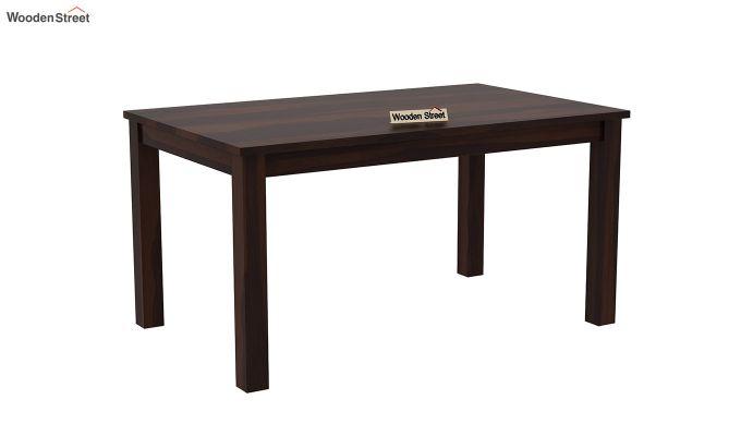 Janet Cushioned 6 Seater Dining Table Set (Walnut Finish)-4
